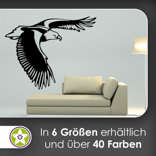 Kiwistar Adler Wandtattoo in 6 Größen - Wandaufkleber Wall Sticker