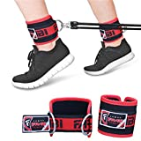 Farabi Ankle Strap for cable machine with 'D' Ring Hook-and-Loop Closure Fitness Thigh Pull straps Pair