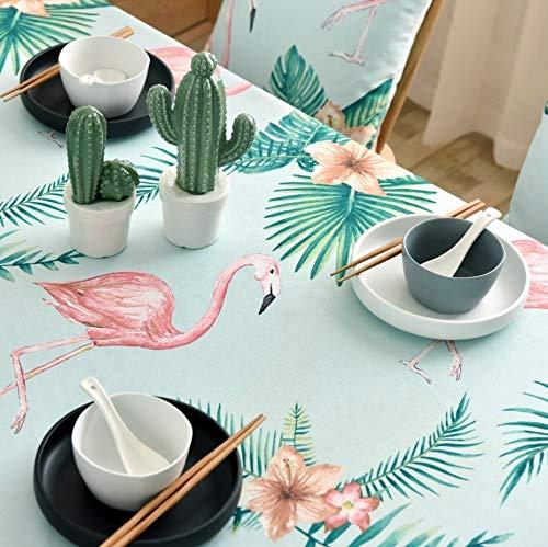 Tablecloth Tischdecke Stoff Rechteck - Hochwertiger bedruckter Stoff Stark und haltbar Abriebfest Staubdicht Verblasste Tischdecke Grün 140 * 250 cm (Color : Green, Size : 135 * 220CM) -
