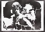 Poster Luke Skywalker Et Yoda STAR WARS Affiche Handmade Graffiti Street Art - Artwork