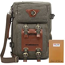 KAUKKO añejo Bolsa de piel Laptop Hombres' Elegante Mochila para mochila de senderismo al aire libre