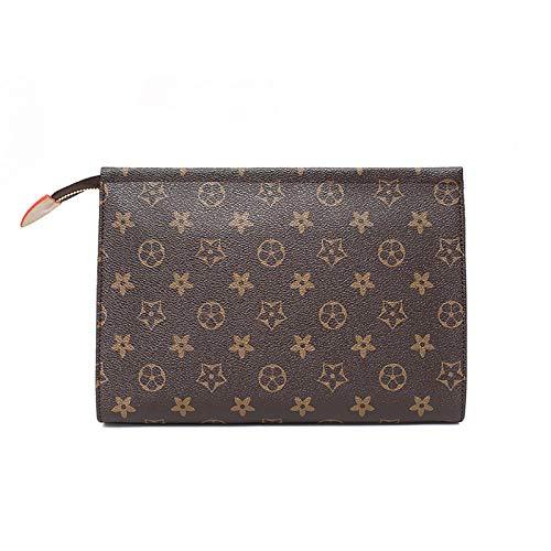 Ldyia Klassisch Bedruckte Clutch Bag Fashion Handtasche Unisex Multifunktions Geldbörse Handytasche Kartenpaket Bankettbeutel, braun
