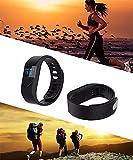 Fitness Aktivitätstracker,CAMTOA Sport Schrittzähler Bluetooth 4.0 Armband OLED Display Fitnessarmband Wasserdichte IP54 Tracker Armband mit Schlaf-Monitor Kalorien Kamera-Fernbedienung QQ SMS Facebook Rufnummernanzeige - 4
