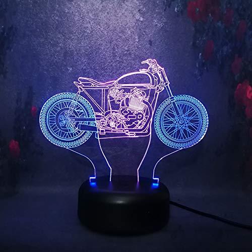 3d lampe mischfarbe cool motorrad usb nachtlicht stimmung dekor kind geschenk toys led hauptbeleuchtung lampe schreibtisch tischlampe