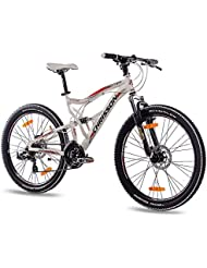 "26"" Inch Alloy MOUNTAIN BIKE BICYCLE CHRISSON EMOTER Fully UNISEX with 21S SHIMANO TX55 2xDISC white matt"
