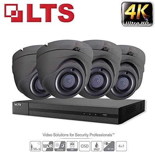 Hikvision iVMS-4500 Überwachungskamera-Set, 5 MP, Ultra HD, 4 K, 4 Kanäle, DVR, HD TVI H.265+, DVR bis zu 6 TB, 2,8 mm, 4 x Kamera, für den Innen- und Außenbereich, 25 m Nachtsicht, IR-Kit - Lorex-security-kamera
