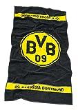 BVB Borussia Dortmund Handtuch, Duschtuch, Badetuch (schwarz/gelb, Handtuch L: 100 cm, B: 50 cm)