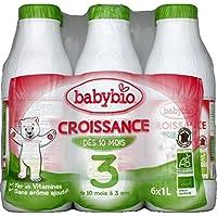 Babybio - Croissance Croissance Bio De 10 mois à 3 ans Les 6 bouteilles de 1L( Prix Unitaire ) - Envoi Rapide...