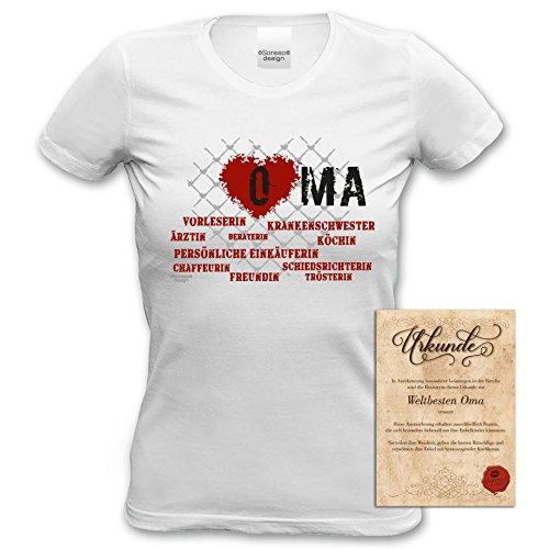 ... Weihnachten bequemes T-Shirt Frauen Damen Motiv Herz Oma Geschenk-idee,  Muttertag, Weihnachten ...