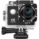 4K High-Definition-Action-Kamera, 1080P Action Cam 2 Zoll LCD 170 ° Weitwinkel-Objektiv 30M Wasserdichter Unterwasser Bewegungs-Camcorder