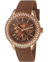 Esprit Damen-Armbanduhr marin glints Analog Quarz Silikon ES106222008