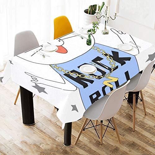 Cuffie musicali per gatti animali su misura cotone lino stampato alle macchie di tovagliette per tovaglie tovaglia per cucina casa sala da pranzo decorazioni per tavoli 60 x 84 pollici lavabili