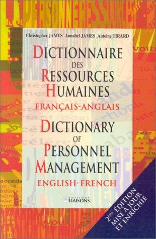Dictionnaire des ressources humaines français-anglais, 2e édition par C. James