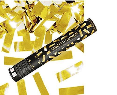 Konfetti Shooter 2 Stück Party Popper gold Folien Konfetti Kanone 40 cm Hochzeit, Feste Partys - von Haus der Herzen ®