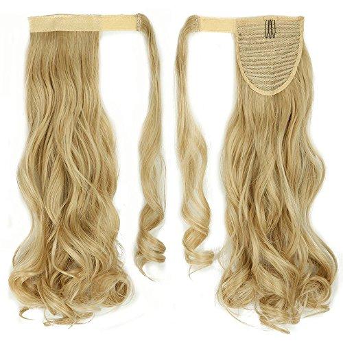 Clip in Extensions Pferdeschwanz Haarteil Blond Ombre Gewellt Ponytail Extensions günstig Haarverlängerung 17