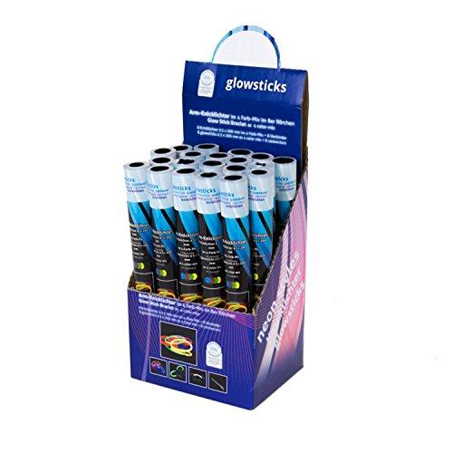 KNIXS 20iger Display-Knicklichtset inkl Arm-Knicklichtern und 160 Verbindern, bunt, Markenqualität, Kunststoff 4 Farbmix 20 x 0.5 cm 20 Einheiten