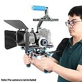 Neewer Profi DSLR Anlage Rig Film-Installationssatz Video-Käfig Rig Schulterstütze Film Macher-System, umfassen Follow Focus, Kompendium und oben C-förmiges Halterung Griff für alle DSLR-Kameras und Video-Camcorder