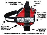 Therapie Hundegeschirr Service Arbeiten Weste Jacke Abnehmbarer Klettverschluss Patches, Kauf Kommt mit 2Therapy Dog Reflektierende pathces. Bitte Messen Sie vor Bestellung, Girth 24-31