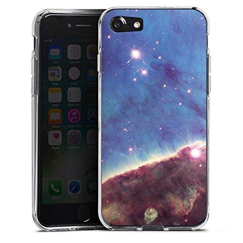 Apple iPhone X Silikon Hülle Case Schutzhülle Gabriela Mistral Nebel Space Galaxy Silikon Case transparent