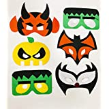 Fancy Steps Six Dracula Vampire Halloween Cosplay Felt Mask Fancy Dress Costumes Carnival Party Mask Free Size Fits Kids To Adult