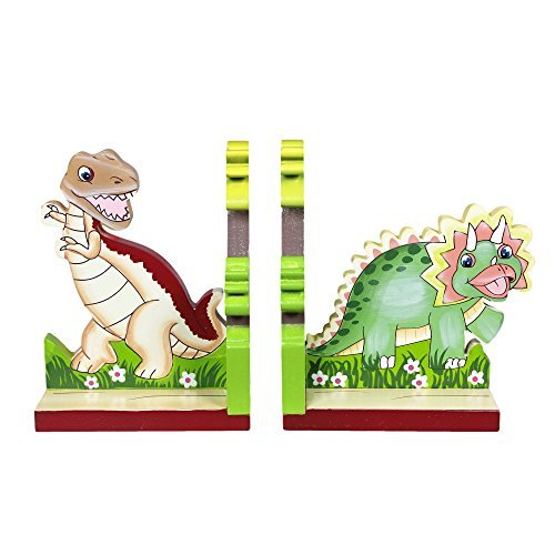 Fantasy Fields by Teamson Dinosaur Kingdom Childrens Wooden Kids Bookends Decoration Gift...