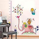 Wandaufkleber Nette Karikatur-Kinderzimmer-Kindergarten-Dekorations-Tierhöhe, die Hauptdekoration haftet