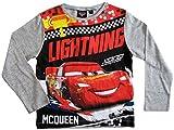 Cars Disney 3 Langarmshirt Lightning McQueen Jungen (Grau, 110-116)