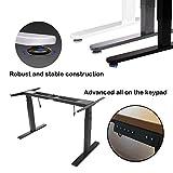 OtdAir Höhenverstellbarer Schreibtisch Elektrisch Tischgestell Schreibtisch,passt für alle gängigen Tischplatten - 6