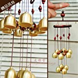 #7: ShopNGift UNIQUE WIND CHIME BRASS METAL & WOODEN FENG SHUI 4 POSITIVE ENERGY IN YOUR HOME