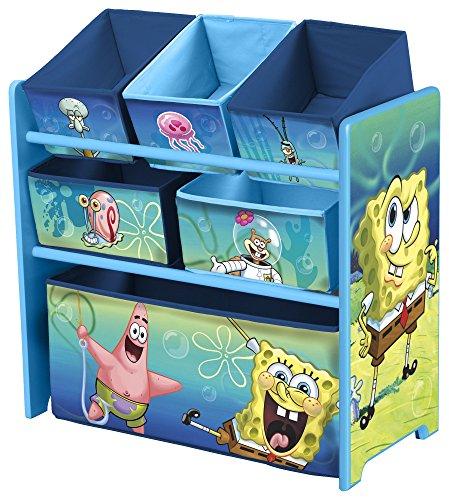 Delta Children. Mueble de almacenaje con varias cajas de Bob Esponja.