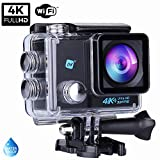 NK Grave Cámara Deportiva subacuática 4K (Ultra-Alta Definición) HD 16MP, WiFi - HDMI,...