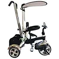 Ricco GR01 Creamy Black Easy Steer Tricycle with Pedal