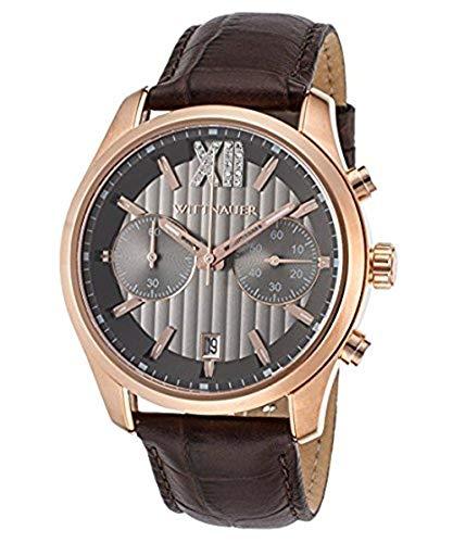 Wittnauer WN1016 - Orologio con cinturino in pelle marrone