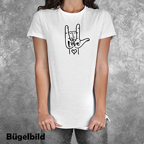 Bügelbild Aufbügler Hertz Heart Liebe Love Frieden Peace in Flex, Glitzer, Flock, Effekt in Wunschgröße