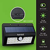 #1: Hardoll 20 LED Bright Solar Lights Outdoor Garden Motion Activated Solar Power Light For Driveway Path