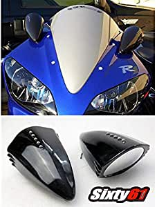 Semoic Motorcycle Chrome Rear View Mirrors for GSXR 600 750 1000 Hayabusa 1300