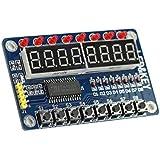 haoyishang teclas TM1638Digital pantalla LED module8-bit LED Digital de 8bits tubo 8teclas TM1638módulo de pantalla para AVR Arduino ARM