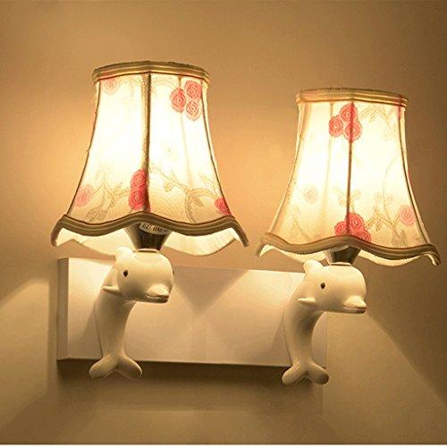 Dimmbar Moderne Kreative Wandleuchte Glas-LED Warm Einfacher Minimalistische Wohnzimmer Aisle Schlafzimmer Bett Room Dolphin Wandleuchte. 1