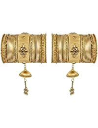 Much More Fashionable Gold Tone Thread Bangle Set For Women's