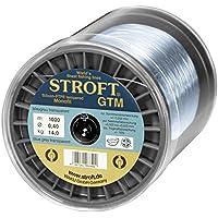 STROFT GTM - Sedal de pesca monofilamento (1000 m, 0,03 mm hasta 0,575 mm), color gris azulado transparente
