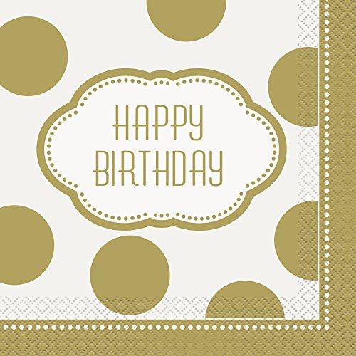 s Goldenes Geburtstagspartyzubehör (Bis Party Supplies)