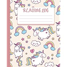 Reading Log : Gift For Book Lovers - Book Read Journal -Cute Unicorn Cover 8x10 (110 Pages) - For Record Your Reading Book (Vol.8): Reading Log