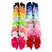 Oyedens 20PCS Big Bow Hairpins Hair Clips for Children Kids Girls Hair Accessories