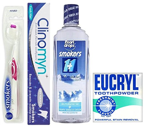 pearl-drops-eucryl-clinomyn-smokers-teeth-care-set-toothpaste-toothbrush-mouth-wash-and-toothpowder
