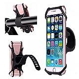 Cuitan Fahrrad Handyhalterung, Universal Fahrradhalterung für 4-6 Zoll Smartphones iPhone 7 Plus/5S Samsung Galaxy S8/S2 Fahrradhalter für Fahrräder, Motorräder, Roller, Kinderwagen - Schwarz