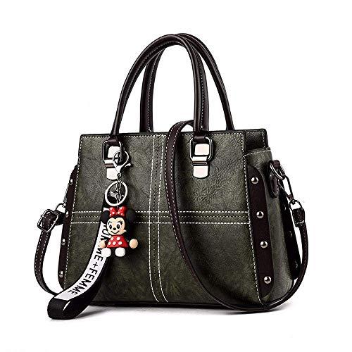 Handtasche Multifunktions-Design Elegante Einkaufstasche Für Die Schule Einkaufen Mode Vintage Nieten Umhängetasche