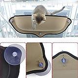 Logicstring Lit/Hamac pour chat, perchoir doté d'un coussin à suspendre avec ventouses pour fenêtre