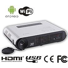 Mini Video Proyector 450 ANSI Lúmenes Resolución Nativa 1280 x 800 , admite 800 píxeles DLP Mini Proyector 3D 3D Mini Proyector 3D