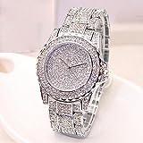 armbanduhren männer Herrenuhr mit Datum Funktion herren Damenmode Luxus Diamanten Analoge Quarz Vogue Uhren Armbanduhr Uhren Armbanduhren Herrenarmbanduh Silber