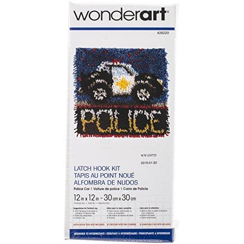 Wonderart Knüpfset mit Fisch-Motiv, Police Car, 12